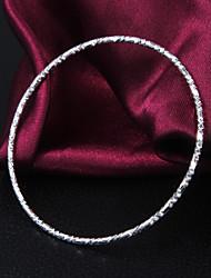 Classique de haute qualité argent plaqué argent à enveloppe simple de fines veines Bracelets