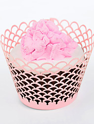 Fish Scale Laser Cut Cupcake Wrappe - Set of 24 (More Colors)