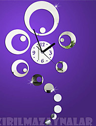"33.5""H Modern Style Bubble Mirror Wall Clock"