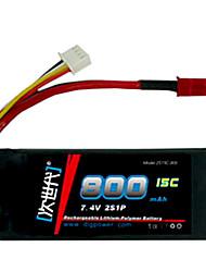 DLG 7.4V 800mAh Li-Po Battery(JST Plug)