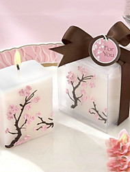 Cubic Peach Blossom Pattern Hand Crafted Candles