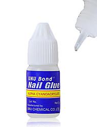 5PCS Синий Бутылка Акриловые искусства Бонд Nail Glue (3g)