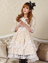 Belle princesse dentelle lolita Arbre feuille robe chic Belle