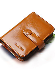 Woman's Double Buttom Consise Card & ID Holders