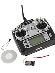 Schermo FS FlySky FS-T6 T6 2.4g Digital proporzionale trasmettitore Canale 6 e ricevitore del sistema W / LED