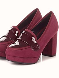 Suede Leather Chunky Heel Pumps Heels Shoes(More Colors)