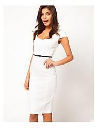 Vestido ajustado de color sólido de las mujeres