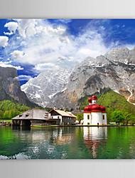 Leinwanddruck Kunst Landschaft See Landschaften in der Hallstatt