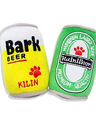 Cool Ultra Soft Plush Beer Can with Squeaker for Pet Dogs and Cats