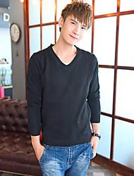 Herren V-Ausschnitt Langarm-Pullover