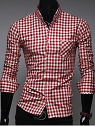 Men's Casual Shirts , Cotton ZHELIN