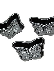 Mini-Butterfly Shape Muffin Cupcake Pans and Tart Pans, 3 Pieces per Set, Non-sticked Coated