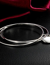 High Quality Sweet Silver Silver-Plated Heart Charm Bracelets