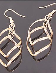 MISS U Women's Bohemian Cut Out Gold Earrings