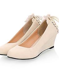 Suede Damen Keilabsatz Wedges Pumps / Heels Schuhe mit Spitzen-up (weitere Farben)