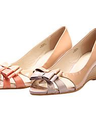 Leather Women's Wedge Heel Heels Sandals Shoes (More Colors)