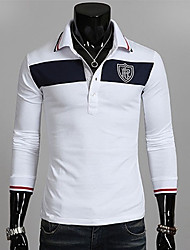 Herren Colour Blocking sticken POLO T-Shirt