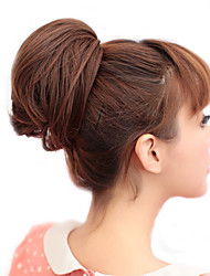 Rubber Band Tied Synthetic Light Brown Straight Bride Hair Wrap