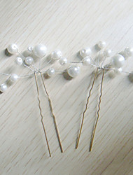 Mujer Perla Artificial Celada-Boda Ocasión especial Pasador de Pelo 6 Piezas