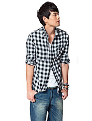 Men's Check Long Sleeve Shirt