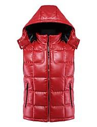 Homens Mova Sentindo Moda, cultivar a moralidade Casais PU Leather Vest