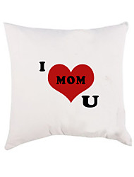 "Gifts Bridesmaid Gift ""I Love U"" Cotton Pillow Case for Mother's Day (Pillow not Included)"