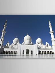 Stampa su tela artistica Paesaggio Sheikh Zayed Grand Mosque, Abu Dhabi, Emirati Arabi