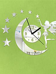 "16 ""H Modern Style Angle Moon Star Miroir Horloge murale"