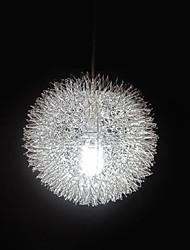 Max 60W Contemporain / Globe Métal Lampe suspendue
