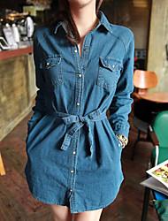 Women's Dresses , Denim Casual/Work IVAN