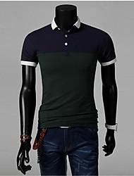 Contraste T-shirt Couleur POLO des hommes