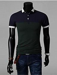 Männer Kontrast Farbe POLO T-Shirt