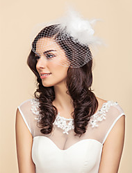 Tulle And Feathers Wedding/Party Blusher Veils With Flower(More Colors)