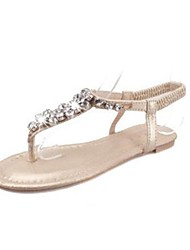 Leatherette Women's Flat Heel Flip Flops Sandals With Rhinestone Shoes (More Colors)