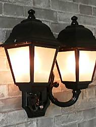 Outdoor Wall Light, 2 Luce, Pittura Classic Vetro di alluminio