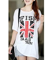 Verano Mujer Fat Girl estilo coreano modal Arroz Tshirt sello