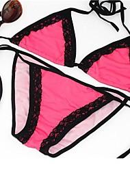 Mulheres Sexy Lingerie cores bonitas com Lace Swimwear Bikini Set