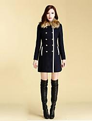 Women's Dress Shirts , Wool Blend Casual Newcomerland
