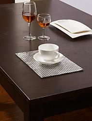 Set of 4 Aluminum Sequins Design Placemats