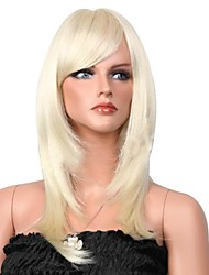 High-end  Chemical  Fiber   Fashion   White   Hair  Wigs