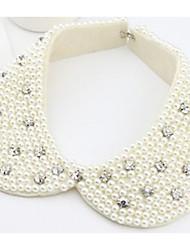 Women's Retro Pearls Lace Coilneck