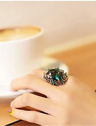 Yiyi Blue Diamond-Edged Jewel Ring (Screen Color)