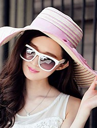 Gorgeous Straw Ladies Outdoor/ Casual/ Beach Hats With Long Brim Bowknot(More Colors)