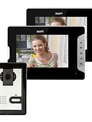 7 polegadas Vídeo porta telefone campainha Intercom Kit 1-2-monitor da câmera de visão noturna
