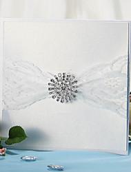 Non personnalisés Format Enveloppe & Poche Invitations de mariage Cartes d'invitation-12 Pièce/Set Style floral Papier nacre 15*15cmRuban
