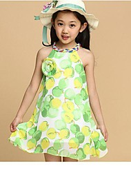 Girl's Print Dress,Cotton / Chiffon Summer