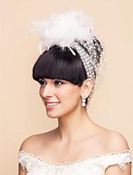 Wedding Veil One-tier Blusher Veils 11.81 in (30cm) Tulle White / Black White / BlackA-line, Ball Gown, Princess, Sheath/ Column,