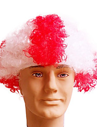 Black Afro Wig Fans Bulkness Cosplay Christmas Halloween Wig Danish Flag Wig 1pc/lot