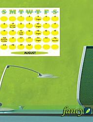 PVC Gele Kleur Maandelijks CalendarWall Stickers muurstickers