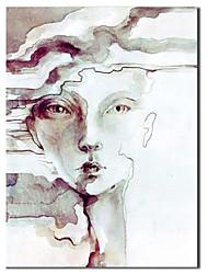 La cara de la pintura al óleo pintada a mano de la gente de la muchacha con el marco de estirado
